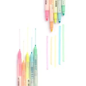 라인프러스 마일드핏 트윈 형광펜 단색 12개입