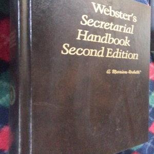 웹스터 Secretarial Handbook/메리엄 웹스터.1976