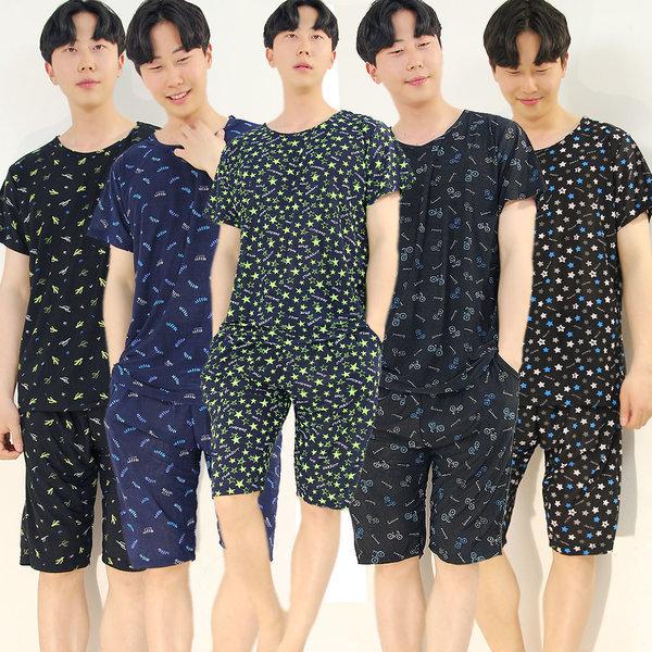 까실이쿨반팔상하세트(XL) 남성잠옷/여성잠옷세트