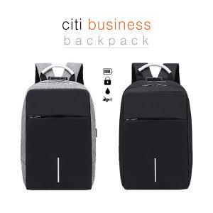 시티 스마트 비지니스 백팩 /USB포트 도난방지장치