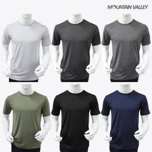 마운틴벨리   남자 스판 라운드 심플 반팔 티셔츠 산뜻하고 쾌적한 소재 B301 6종 택