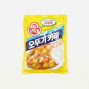 오뚜기 카레 약간매운맛 1KG