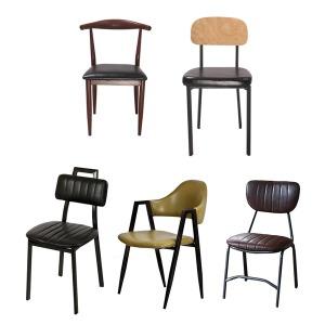 카페 철제 업소용 식당 커피숍 의자