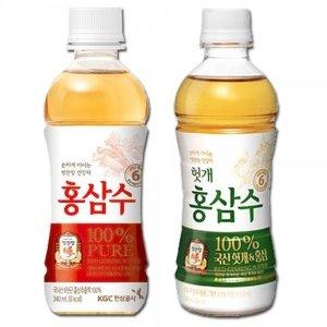 정관장-홍삼수/헛개홍삼수 340mlX40펫-6년근홍삼/생수