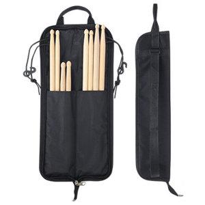 드럼 스틱 가방 케이스 백 포켓 난타 북 채 소 블랙