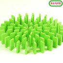 무지개 원목 도미노100pcs 리필용(초록)