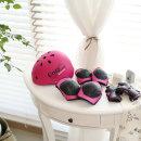 더원스토리 유아헬멧+보호대 아동 자전거 인라인 핑크