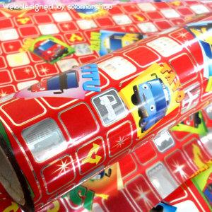 타요비닐포장지(소) 5종/타요포장지/어린이포장지/캐릭터포장지/선물포장지/비닐포장지/증착포장
