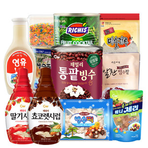 팥빙수재료30종/빙수팥/빙수떡/빙수제리/연유/시럽