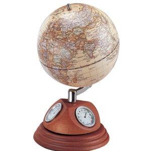 우드)5  월넛원목지구본(온도계습도계시계0967WJM)