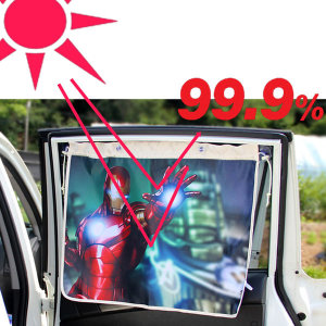 아이언맨 차량용 커튼형 암막 햇빛가리개 자동차 커텐