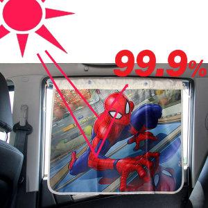 스파이더맨 차량용 커튼형 암막햇빛가리개 자동차커텐