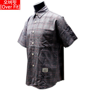 남자 스판 청남방 청자켓 체크 남방 셔츠 50 01 78