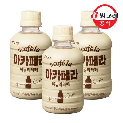 [아카페라] 빙그레 아카페라 바닐라라떼 240mlx20펫 /커피음료