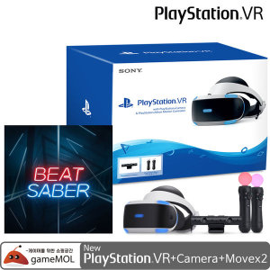 PS4 PSVR 본체 +카메라+무브(3번SET)+비트세이버 코드