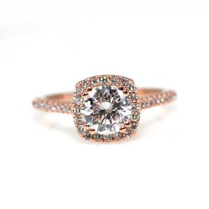 1캐럿 다이아몬드 원라인 예물 선물 반지