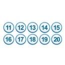 아이넘버 파랑 11-20 (1311) 상스티커 테이블번호스티