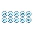 아이넘버 파랑 21-30 (1312) 번호글씨스티커 상꾸미기