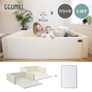 2종특가  태열방지 에디션 범퍼침대 트윈스타 2종세트_슈퍼특대형(침대+3D매쉬)