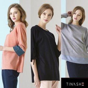 티나쉐 티나쉐 컬러블럭 리얼 니트 3종 택1