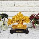 BnH 인테리어소품 황금 돈나무 조각상 소 JSSP_022_1
