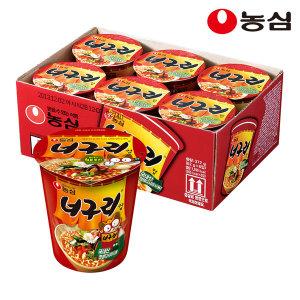 너구리컵 62g 6개입