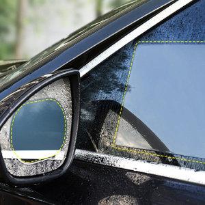 자동차 사이드미러 방수필름 2p 사각형