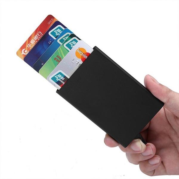 자동 슬라이딩 카드지갑 명함케이스 카드케이스 클립
