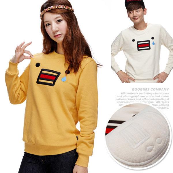 193_ 캐릭터 긴팔 맨투맨 티셔츠 (G11WMRTA02)