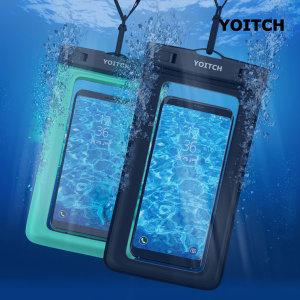 1+1 핸드폰 휴대폰 방수팩 레릭 - 블랙+민트