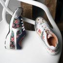 여성 키높이 통굽 신발 운동화 슬립온 스니커즈 꽃무늬