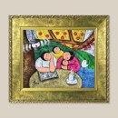 다정한가족 풍경화 그림액자 유화그림 풍수그림 3호