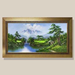부귀의계곡 물그림 그림액자 유화그림 풍수그림 20호
