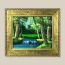 숲속 풍경화 그림액자 유화그림 풍수그림 3호