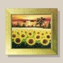저녁풍경 해바라기 그림액자 유화그림 풍수그림 12호