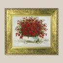 정열의장미 꽃그림 그림액자 유화그림 풍수그림 3호