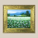 평화의들꽃 꽃그림 그림액자 유화그림 풍수그림 3호