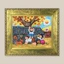풍요의고향 풍경화 그림액자 유화그림 풍수그림 3호