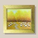 풍요의들판 그림액자 유화그림 풍수그림(주황) 12호