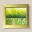 풍요의들판 그림액자 유화그림 풍수그림(초록) 12호
