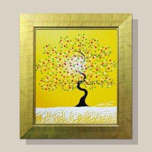 행복한나무 그림액자 유화그림 풍수그림(노랑) 12호