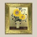 황금 해바라기 그림액자 유화그림 풍수그림(세로) 3호