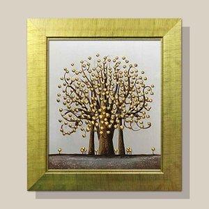 황금나무 돈나무 그림액자 유화그림 풍수그림 12호