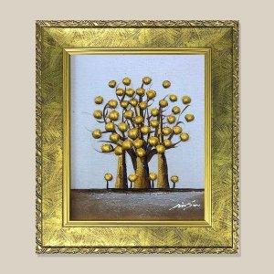 황금나무 돈나무 그림액자 유화그림 풍수그림 3호
