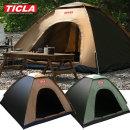 티클라 오토텐트(3~4인용)-캠핑 자동 원터치 팝업텐트