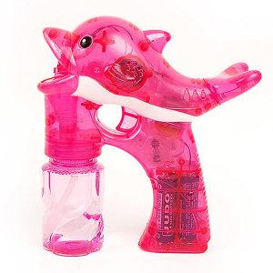 LED돌고래자동버블건(핑크)