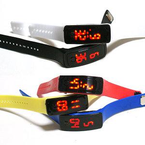 LED 엘이디 젤리패션손목시계 스포츠시계 젤리시계