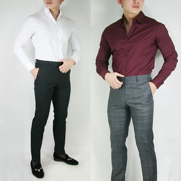 세일/패션디자인스판남방셔츠/스트라이프/헨리넥셔츠