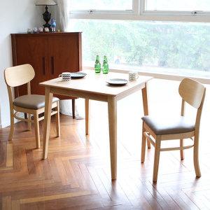 디자이너스룸  스칸디 피노 2인 식탁 세트