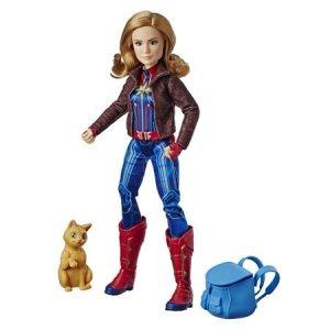 마블 캡틴 슈퍼히어로와 고양이 구스인형